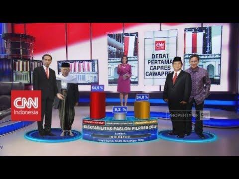 Elektabilitas Paslon Pilpres 2019; Jokowi-Ma'ruf Amin Vs Prabowo-Sandi