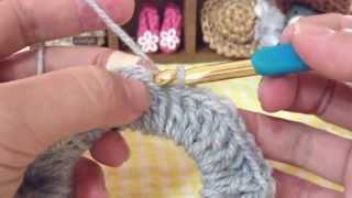 Repeat youtube video 超簡単にシンプルシュシュ☆長編みのみで今回は普通の毛糸で^^