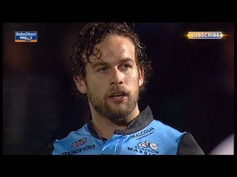 Ruaridh Jackson Clinching Penalty Glasgow Warriors v Cardiff Blues 6th Sept 2013