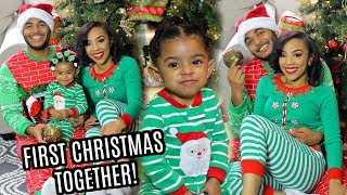 FIRST CHRISTMAS TOGETHER AS A FAMILY!!! | 2018 | BABY OPENS CHRISTMAS PRESENTS