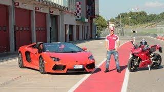 Dovizioso - Lamborghini Aventador - Ducati 1199 Panigale R - Automoto.it
