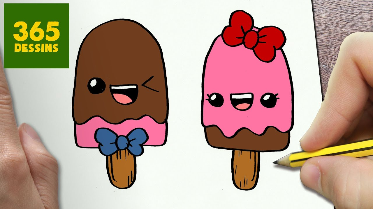 Hervorragend COMMENT DESSINER POPSICLES KAWAII ÉTAPE PAR ÉTAPE – Dessins kawaii  BL47