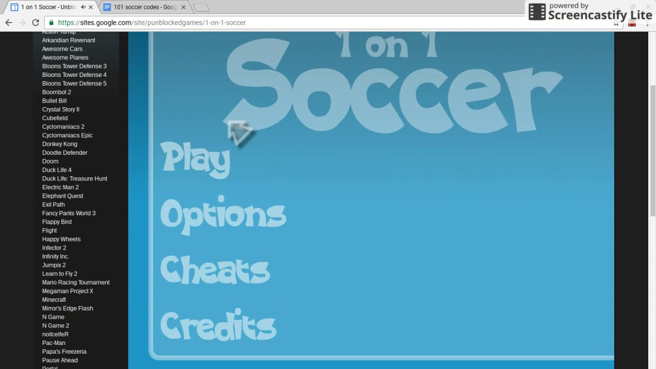 1 On 1 Soccer - Brazil Cheats - Two Player Games