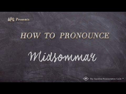 How to Pronounce Midsommar  |  Midsommar Pronunciation