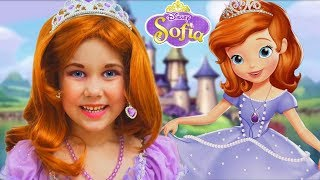 Sofia The First Dress and Kids Makeup Julia Pretend Play with Princess Doll