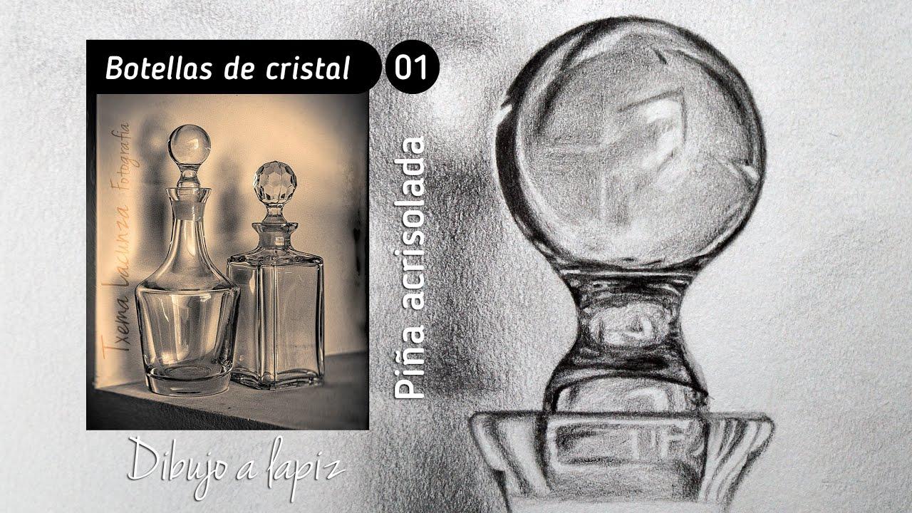 Como dibujando un bodeg n con botellas de cristal en for Como reparar un cristal agrietado