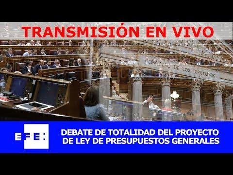 Debate y votación de totalidad de los Presupuestos Generales del Estado