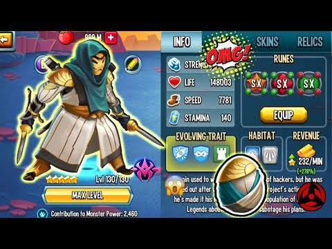 🔴Monster Legends: My New PZ Ronin Level 130 Anti-hack Review Combat Pvp