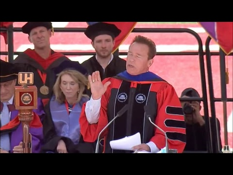 LIVE: Arnold Schwarzenegger speaking at the University of Houston commencement address