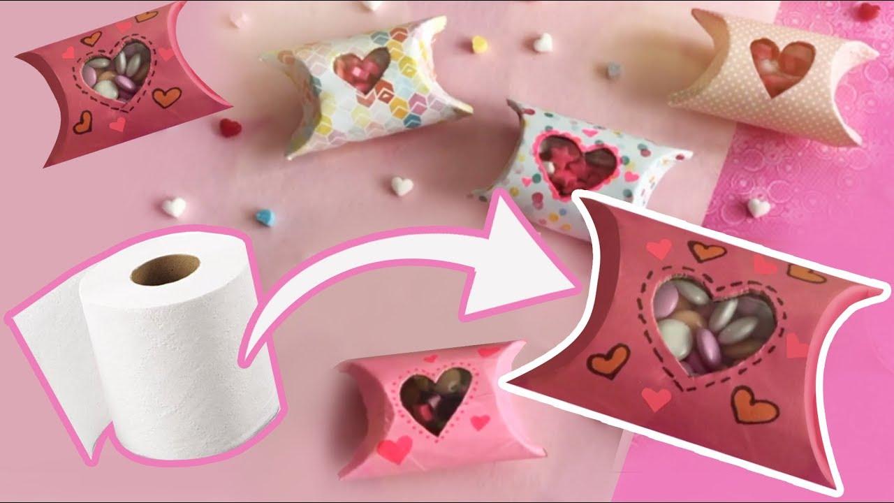 Cajitas Con Amor Regalos Faciles Y Rapidos Con Rollos De Carton
