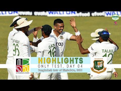 Zimbabwe vs Bangladesh Highlights || Only Test || Day 4 || Bangladesh tour of Zimbabwe 2021