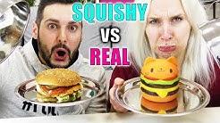 SQUISHY FOOD VS REAL FOOD Challenge - Kaan VS Nina Slow Rising Spielzeug gegen richtiges Essen