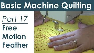 Free Motion Quilting a Feather Design on Your Home Machine