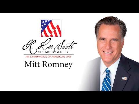 H. Lee Scott Speaker Series - Mitt Romney (full program)