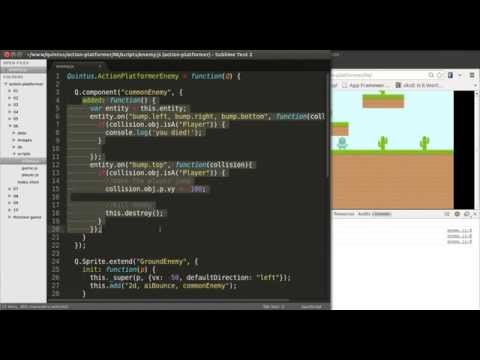 HTML5 Mobile Game Development Tutorial, Custom Quintus Components