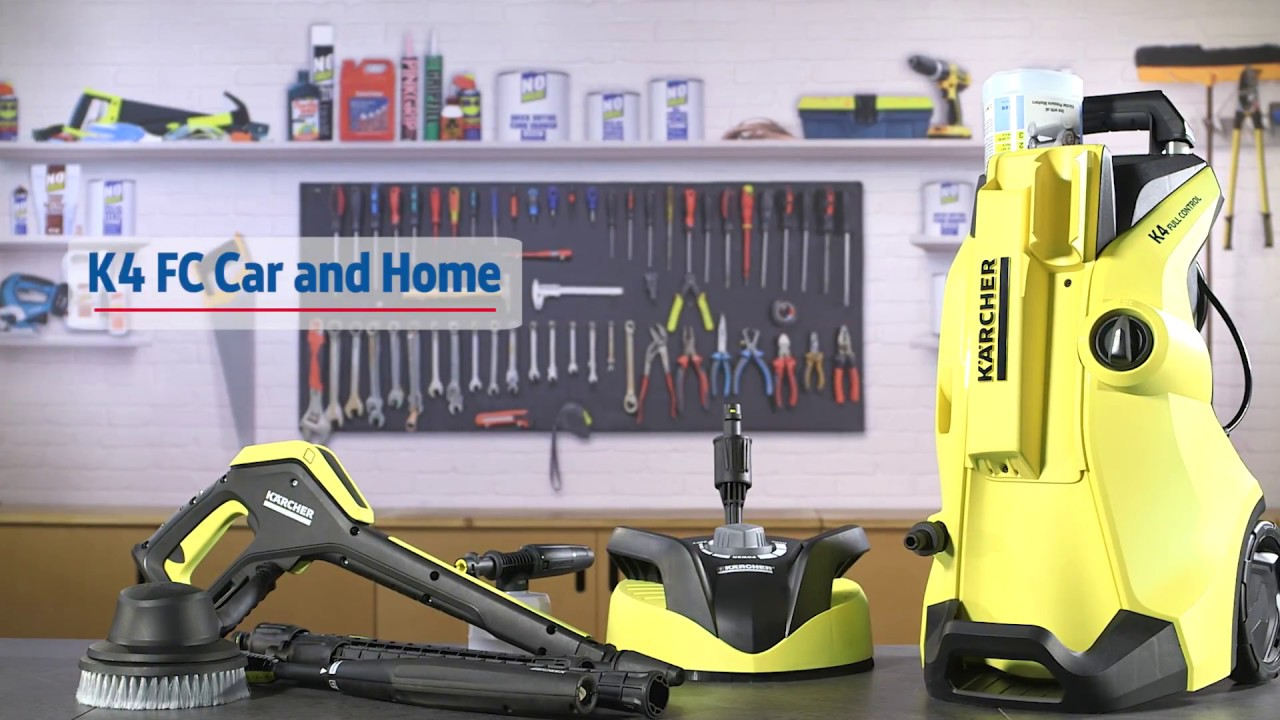 karcher full control k4 car home 130bar pressure washer 1 8kw 240v screwfix youtube. Black Bedroom Furniture Sets. Home Design Ideas