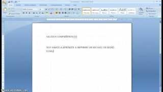 Imprimir en WORD