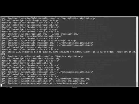 Using Osmosis npm module for NodeJS