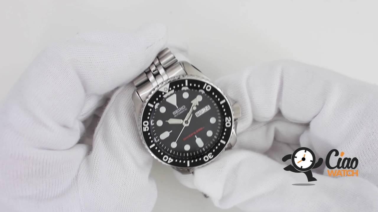 Orologio Seiko Divers Skx007k2 Youtube Automatic 200m Black Dial Watch