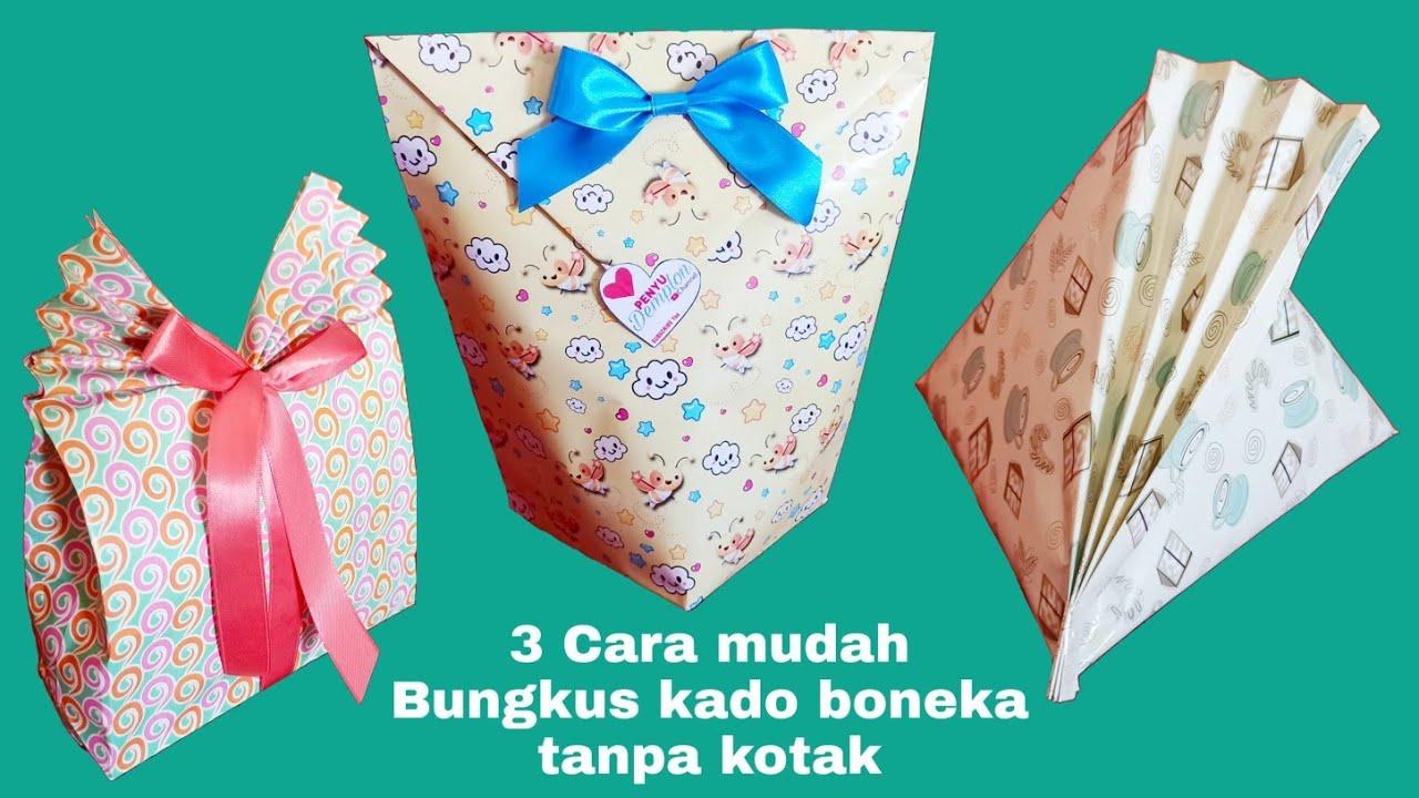 8 Cara mudah bungkus kado boneka tanpa kotak