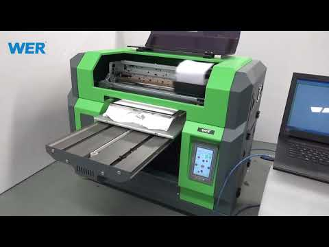 T-shirt Printer Review Video White T Shirts Is Printed By A3 T Shirts Printing Machine -WER-E2000T