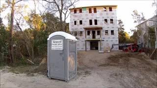 Porta Potty Re-Review New Home Construction -  Emerald Isle North Carolina -  Feb. 9,  2017