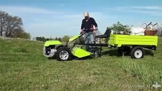Traktor jednoosiowy Grillo G 85d - przyczepka, glebogryzarka, radło