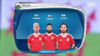 Wales line-up v Northern Ireland: UEFA EURO 2016