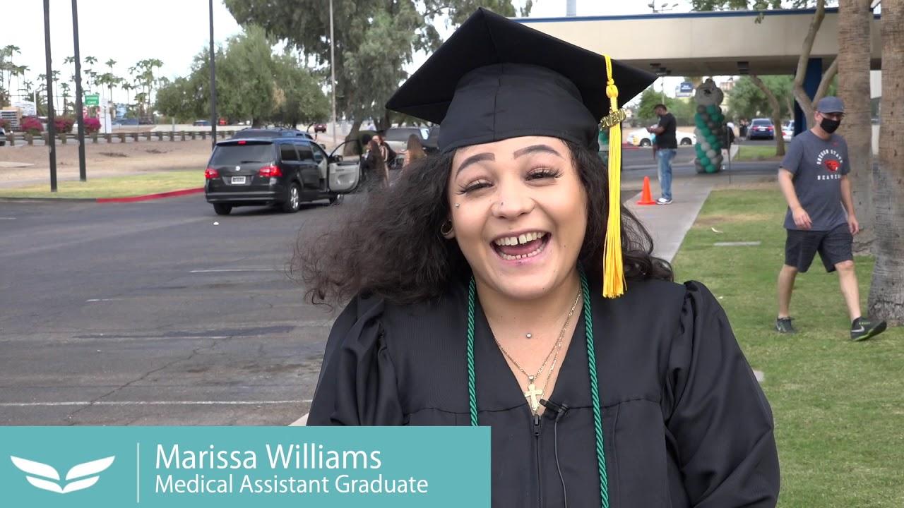 Video: UEI College in Phoenix hosts drive-through graduation