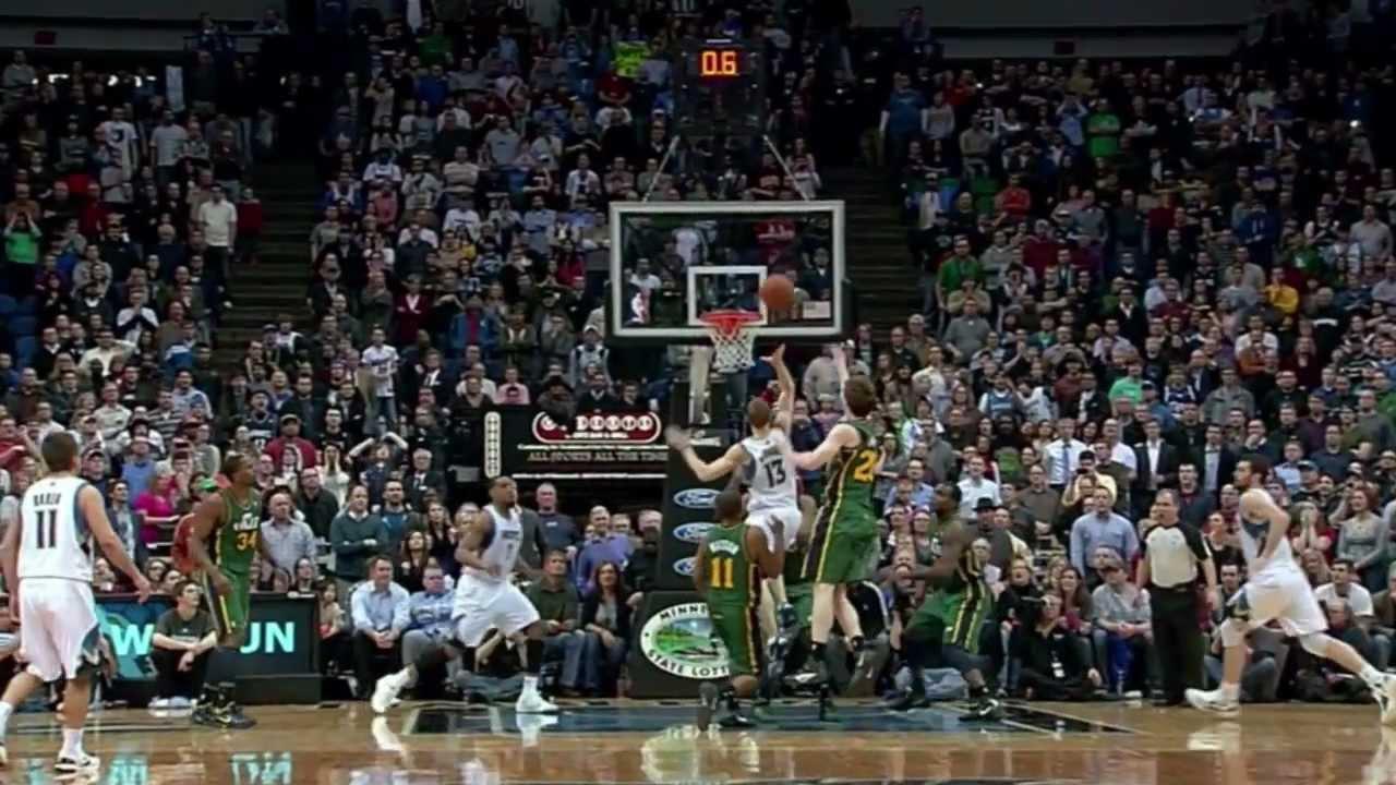 Luke Ridnour game winning floater vs. Jazz (Feb. 22, 2012 ...
