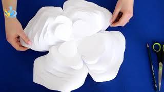 як зробити великі паперові квіти майстер клас