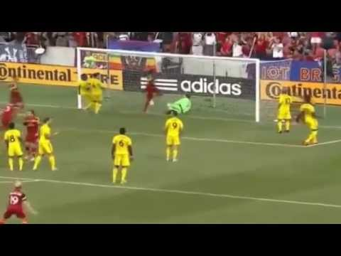 Real Salt Lake Crazy Free kick routine draws oohs  one two three four