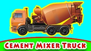 Cement Mixer Truck in Garage Construction and BUILD Heavy Vehicles