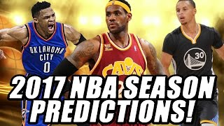 2017 nba season awards and nba finals predictions!