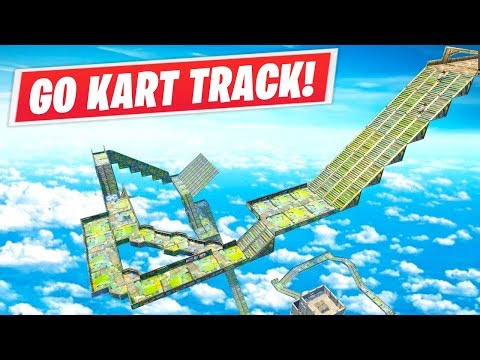 Fortnite // Shopping Cart Race Track!
