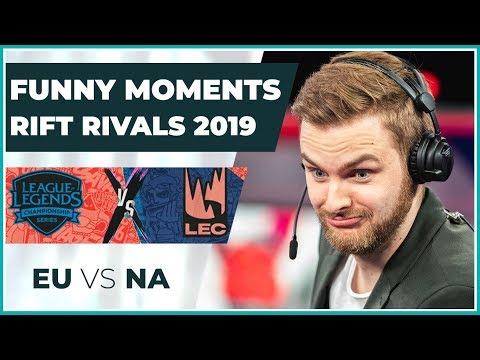 Funny Moments - Rift Rivals 2019: EU vs NA