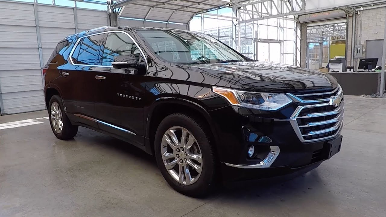 2018 chevrolet traverse high country mosaic black with jet black loft brown interior youtube for Traverse high country interior