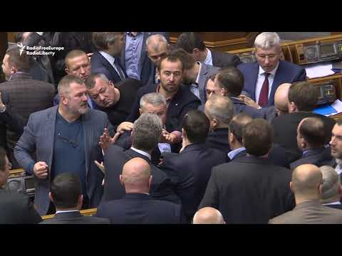 Brawl In Ukrainian Parliament