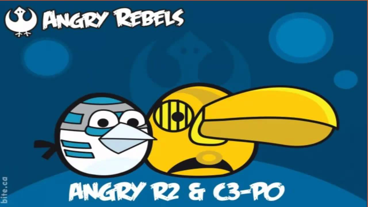Angry birds star wars rebels 1 r2 d2 c 3po youtube - Angry birds star wars 7 ...