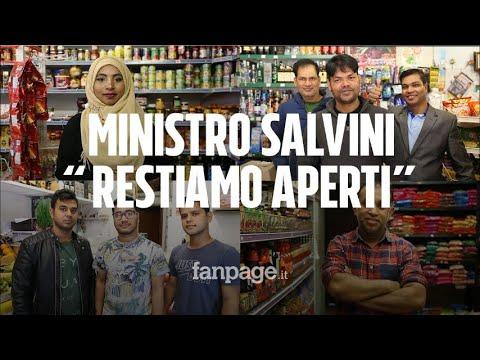 Matteo Salvini E La Chiusura Dei Negozi Etnici, L'appello: