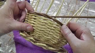 Косичка из тройной веревочки. Плетение из газетных трубочек