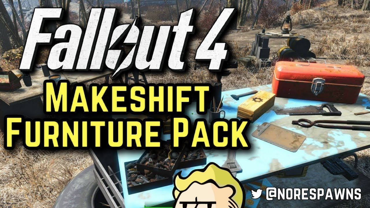 Fallout 4 mod review makeshift furniture pack