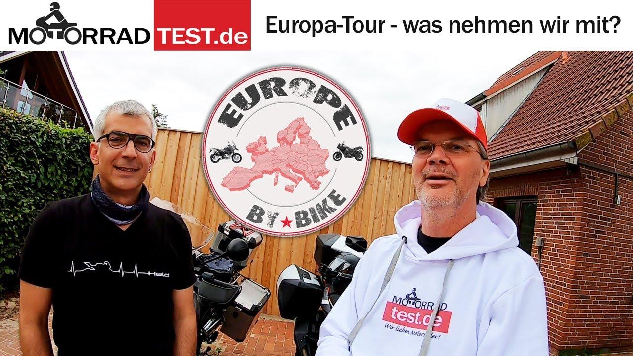 Motorrad-Tour durch Europa   Vorbereitungen kurz vor der Abreise