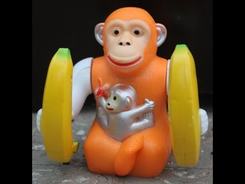 Banana Monkey Orangutan Musical light jumping skipping Funny Gift toy for Kids