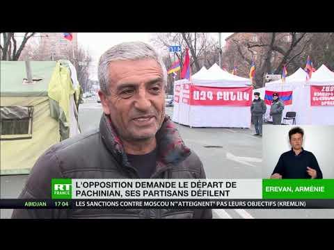 Arménie : l'opposition demande le départ de Pachinian, ses partisans défilent