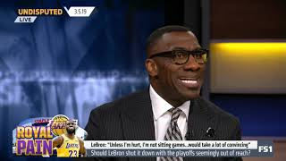 Undisputed 3/5/2019 | Skip & Shannon SHOCKED LeBron refuses to be shut down: 'I'm not sitting games'