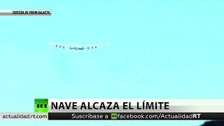 Un avión comercial alcanza el límite del espacio en un vuelo de prueba