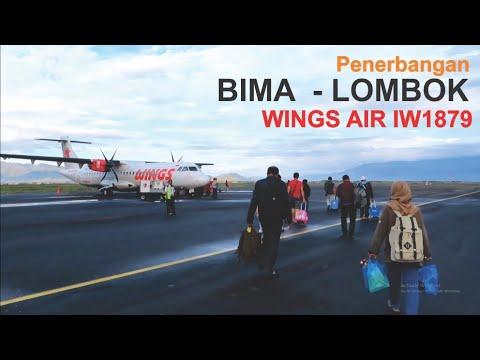 Terbang Bersama Wings Air Rute Bima - Lombok IW1879 Pesawat ATR 72-500