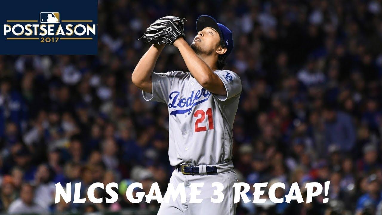 National League Championship Series 2017 Recap | Cubs vs Dodgers Game 3