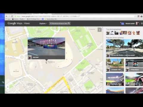 Barcelona Fc via google maps and street view